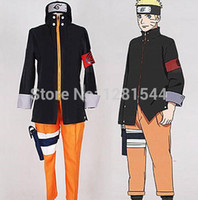 Wholesale Free Naruto Games - Free shipping NARUTO THE LAST -NARUTO THE MOVIE Uzumaki Naruto Cosplay Costume