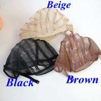ingrosso colori parrucche-Parrucca Cappelli Parte parrucca parrucca che rende strumenti di estensione dei capelli cap per parrucche di capelli umani 3 colori