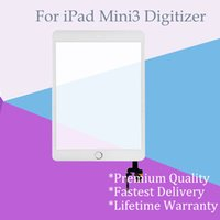 Wholesale Install Assembly - Wholesale Top A+++ for iPad Mini 3 Black and White Touch Screen Digitizer Assembly with Adhensive and Home Button Chip IC Pre-installed
