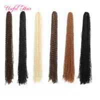 Wholesale Micro Braids Hair Extensions - Synthetic ZIZi crochet braids hair kinky curly braiding hair micro braid crochet hair extensions marley for black women