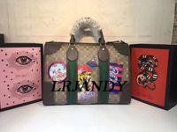Wholesale Brown Canvas Duffel Bag - Top Quality Luxury Travel Bag Men Womens Duffle Bags Luxury Brand Luggage Bag 42CM Shoulder Bag