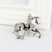 Wholesale Trojan Metal - Horse Trojan Pendant Charm Rhinestone Crystal Purse Bag Keyring Key Chain Accessories Wedding Party Lover Friend Gift