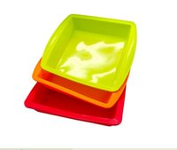 Wholesale silicone rubber sell - Best selling square Pan 8.7'' Non Stick Silicone Container Concentrate Oil BHO dish