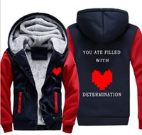 Wholesale Sheep S Wool - Sports jacket game undertale legend under the sheep mother family plus velvet hat hooded sweater