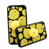 Wholesale Cover Iphone Chick - Lovely 3D Soft Chick Cartoon Silicone Cellphone Case Back Cover for iPhone 7 6s 6 Plus