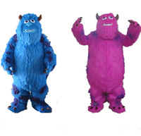 Wholesale Mascot Outfits - Hot Sale Sully Mascot Costume Suit Monsters University Fancy Dress Outfits Cartoon Costumes Adult size Set Custom Made with two color