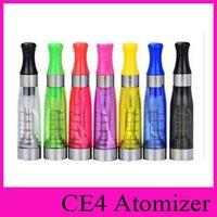 Wholesale E Cigarette Atomiser - E Cig Ce4 Atomiser Ego CE4 Atomizer Clearomizer Ce4 Clearomiser With Long Wick 1.6ml Suit For All Ego-t Ego Health E cigarettes