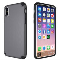 Per Apple iPhone X Mobile Shell PC + Materiale TPU 2 in 1 Doppia Protezione Anti-goccia Design Stealth Car Case cellulare