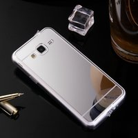 Wholesale Mirror Metal Electroplating - Luxury Cases For Samsung Galaxy J1 J2 J3 J5 J7 Mirror Electroplated Silicone Metal Plated Soft TPU Cover Case for Galaxy J Series