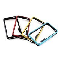 Wholesale Iphone 4s Tpu Black - Wholesale fine hard polycarbonate material + TPU Ultra-thin durable TPU Protective Frame for iPhone 4 4S - Blue + Black free shipping DHL