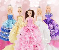 Wholesale Doll Wedding Dresses American Girl - American Bobbi Doll Princess Dream Wedding Gift Dolls Toys Girl Birthday Christmas Fashion Action Figures Doll Handmade Party Princess Dress