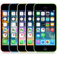 Wholesale Free Iphone Accessories - Original Unlocked Apple iPhone 5C Mobile Phone 16GB rom iphone 5C 8mp camera GSM WCDMA iphone5c Best Quality Free shipping