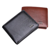 Wholesale Multiple Wallet - Fashion Men Business Standard Short Wallet Solid Color PU Leather Purse Multiple Cards Photo Burse Bifold Notecase Male Cltchbag #4060