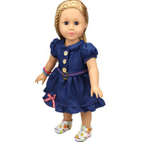 Wholesale Doll Toys Clothes - Christmas Gifts For Children Girls Doll Accessories Handmade Princess Dress For 18'' American Girl Dolls Clothes variety of options YF285