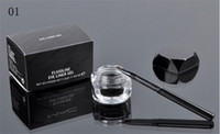 Wholesale Eyeliner Gel Brush Fluidline - Free Shipping dhl New Makeup Eyes Eyeliner MC BRAND Fluidline Eye Liner Gel Will Brush!Black Brown