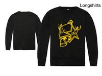 vêtements de crâne hommes achat en gros de-New Classic Skull hip hop équipage Pulls Molletonnés marque Hommes Sweat-shirt mode mâle impression vêtements longs Vêtements