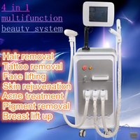 Wholesale Tattoos Removal Equipment - Newest multifunctional beauty equipment 4 in 1 Elight+ OPT SHR + RF + Nd Yag laser beauty machine SHR hair removal machine