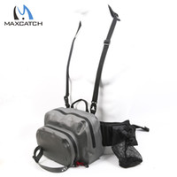 Wholesale Polyurethane Materials - Wholesale-New Arrival 100%Waterproof Fishing Waist Bag Polyurethane-coated Material Fly Bag