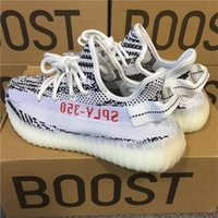 Wholesale Tennis Shoe Boots Wholesalers - ORIGINALS YEEZYBOOST 350 V2 WHITE CORE BLACK RED FTWR WHITE Zebra Zebras CP9654 KANYE WEST SPLY 350 V2 350V2 BOOSTS RUNNING SHOES SNEAKERS