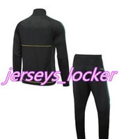Wholesale Bollywood Top - AL-170-top quality tracksuit THAI quality tracksuit 2017 Loggers Sports Set special lumber jackets suit Bollywood Slugs Sport+pants