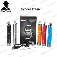 Wholesale Ecigarette Wax - Original Yocan Evolve Plus Ecigarette Kit Upgraded Evolve Wax Vaporizer Pen Electronic Cigarettes Fit Quartz Dual Coil Vs Titan 2 Dry Herb