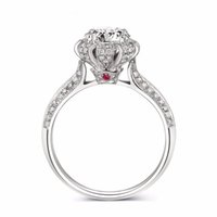Wholesale Simulated Ruby Rings - Vecalon Luxury Fashion Jewelry ring Ruby Simulated diamond Cz 925 Sterling Silver Engagement wedding Band ring for women