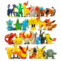 Wholesale Pikachu Child - Poke game 100 Styles Poke Figures Toys Pikachu Charizard Eevee Bulbasaur Suicune PVC Mini Model Toys For Children