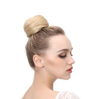Wholesale Hair Band Extensions - Synthetic Hair Chignon Resist High Temperature Ring Donut Buns Up Do Hair Extensions 10 Colors Available