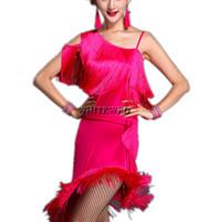 Wholesale Tango Evening Dress - Sexy Fringe Ballroom Latin Tango Rumba Samba Jive Salsa Dance Club Birthday Party Ball Night Evening Themes Dresses Wear Attire