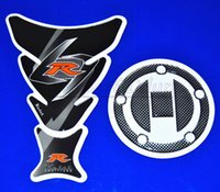 Wholesale Suzuki Gsxr Tank Pads - Motorcycle Decal Fual Gas Cap Cover Tank Pad Protector Sticker For All Suzuki GSXR 600 750 2004-2010 QJC2532