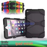 Military Extreme Heavy Duty IMPERMEABLE DEFENSOR CASE Funda para iPad Mini 4 STAND Holder Hybrid SHOCKPROOF Cases