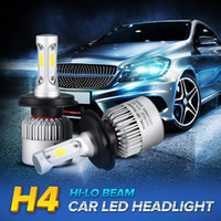 Wholesale Led Fan Car - S2 3 Sides Bright Hi Low Bea COB car led headlight 72W 8000lm H7 H11 9005 H4 Automobile Fog Lamps All-in-one Cooling Fan