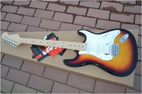 Wholesale Cheap Guitar Bodies Necks - Wholesale - Free shipping One neck (No Scarf) Musical instruments Newest 3 tone Sunburst ST Electric Guitar High Cheap