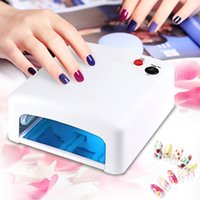 Wholesale Nail Art Lamp Led 36w - Wholesale-Professional Gel Nail Dryer High quality 36W UV Lamp 220V EU Plug Led Nail Lamp Curing Light Nail Art Dryer tools