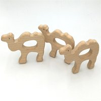 Wholesale Camel Silver Charms - Baby Teether Eco-friendly Montessori Inspired Organic Nursing Infant Toys Wooden Camel Pendant Baby Teething Teether DIY