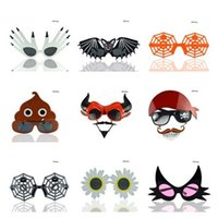 Wholesale Wacky Halloween - New Halloween Birthday party Prank Toys personality Wacky glasses Pumpkin glasses funny Christmas party supplies IA757