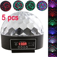 5 PC / Los Bunte RGB-LED DMX512 Party Bar Disco DJ Bühnenbeleuchtung Digital Crystal Ball-Effekt-Licht LEG_903