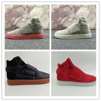 Wholesale Gifts Boots - High-quality Kanye West 750 Boots Tubular Invader Strap Running Shoes Christmas gift Sesame Men Sneakers Boost Sport Shoes Size 40-46