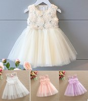 Wholesale white rose princess for sale - Group buy 2016 Summer Children Girls Rose Sequins Princess A Line skirt Korean Princess wedding dress Flowers Pred Perry Ball Gown