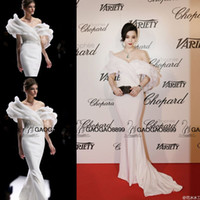 Wholesale Dress Lace Ribbon Piece - Fan Bingbing in Ralph & Russo Couture Cannes Red Carpet Celebrity Dresses 2016 Dubai Arabic Middle East Off-shoulder Mermaid Prom Dress