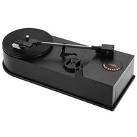 Wholesale Compact Audio - EC008B USB Mini Phonograph Turntable Record Speaker Audio Player Support 33   45PRM Function Loudspeakers Compact And Portable