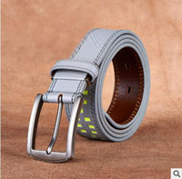 Wholesale Designer Chain Belt - 2017 new hip brand buckle l designer belts for men women genuine leather gold cinto belt Men's handbag 111