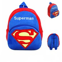 Wholesale Superman Plush Backpack for Boys Cute Minnie Stuffed Toys Gift for Baby Kids Plush Backpack Children School Bag