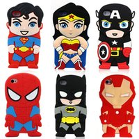 Wholesale Iphone 3d Cases Superheroes - 2016 New Avengers superhero For iPhone 6s 6 Plus Case Phone Shell 3D Stereoscopic Superman Cartoon Shockproof Shock Protects