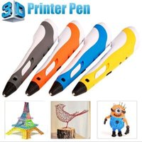Wholesale Drawing Toys - 3d Drawing Pen Printer Printing Pens with With LCD Screen 3d stereoscopic printing pen educational toys for 3d Drawing Kids Children Gifts