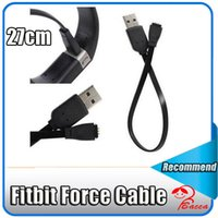 Wholesale Smart Power Cable - 27cm Smart Watch USB power Charging Cable for Fitbit Force Bracelet Wristband with DHL FREE shipping