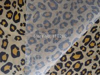 Leopardo selvaggio modello animale stampato carta regalo, 17gsm carta di seta 50x40 cm, 120pcs / lot all'ingrosso