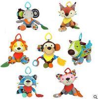 Wholesale Totoro Push - 7pcs set 18cm Baby Cute Cartoon Animal Plush Toys Multifunction Appease Doll Push Lathe Hanging Ornaments Toy totoro