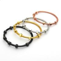 Wholesale Couple Bracelet Male Female - Fashion 2017 the latest 6 screws bracelet titanium steel ladies male and female couple thread love bracelet&banlge for women man jewelry
