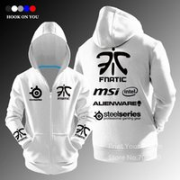 Wholesale Lol Cosplay - Wholesale-Exclusive Design LOL Gaming Team fnatic autumn winter E-Sport zipper Cardigan hoodies fashion Cosplay Hoody Free Shipping